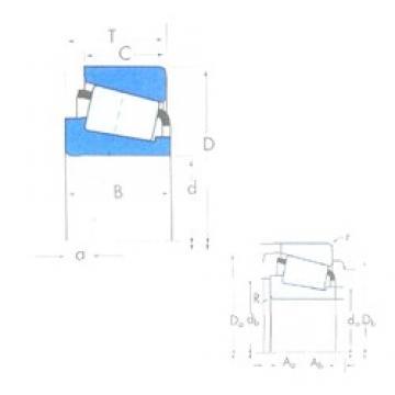 60 mm x 110 mm x 22 mm  Timken X30212CM/Y30212CM tapered roller bearings