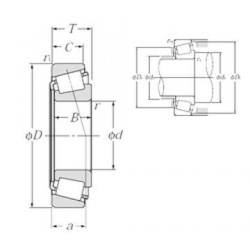 70 mm x 120 mm x 29,007 mm  NTN 4T-484/472 tapered roller bearings