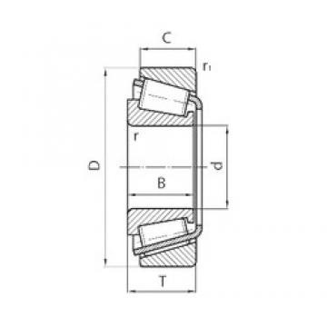 SNR EC41053H106 tapered roller bearings