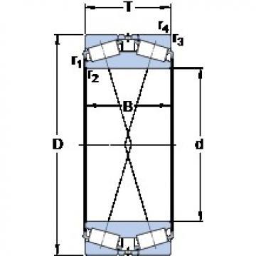 254 mm x 438.15 mm x 165.1 mm  SKF BT2B 332536/HA1 tapered roller bearings