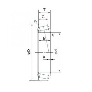 33.338 mm x 68.263 mm x 22.225 mm  NACHI H-M88048/H-M88010 tapered roller bearings