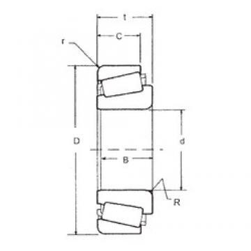 22,225 mm x 50,005 mm x 18,288 mm  FBJ M12648/M12610 tapered roller bearings