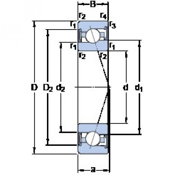 65 mm x 100 mm x 18 mm  SKF S7013 CE/P4A angular contact ball bearings #2 image