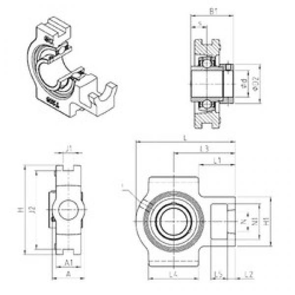 SNR EXT315 bearing units #2 image