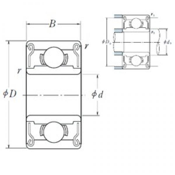8 mm x 16 mm x 5 mm  NSK 688 AZZ1 deep groove ball bearings #2 image