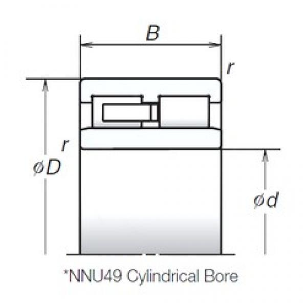 150 mm x 210 mm x 60 mm  NSK NNU4930MB cylindrical roller bearings #2 image