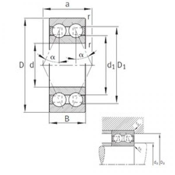 20 mm x 47 mm x 20,6 mm  FAG 3204-B-TVH angular contact ball bearings #2 image