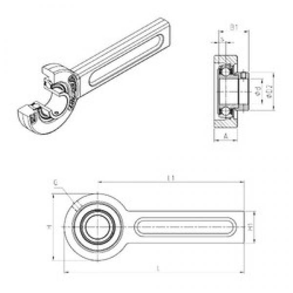 SNR ESSP203 bearing units #2 image