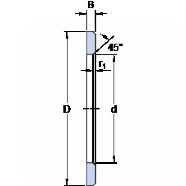 45 mm x 65 mm x 4 mm  SKF LS 4565 thrust roller bearings #2 image