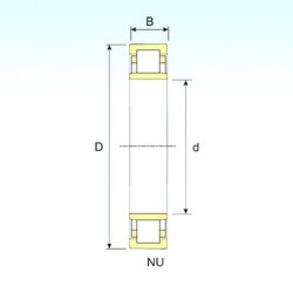 460 mm x 830 mm x 165 mm  ISB NU 1292 cylindrical roller bearings #2 image