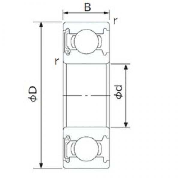40 mm x 90 mm x 23 mm  NACHI 6308NSE deep groove ball bearings #2 image
