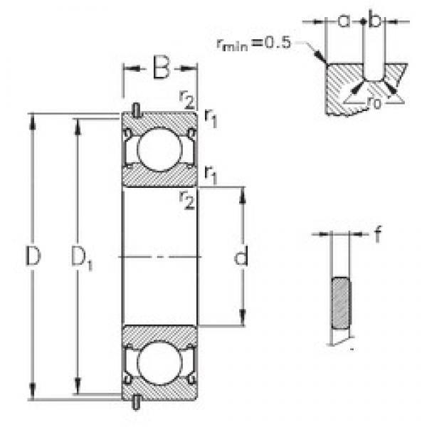 120 mm x 180 mm x 28 mm  NKE 6024-2Z-NR deep groove ball bearings #2 image